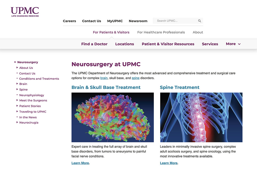 UPMC Neurosurgery Webpages
